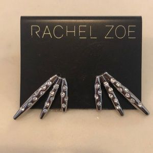 Rachel Zoe rhinestone silver earrings NWT